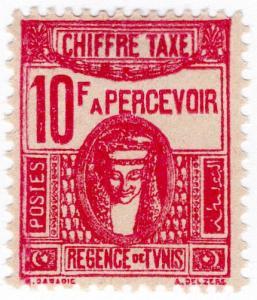 (I.B) France Colonial Postal : Tunisia Post Tax 10Fr