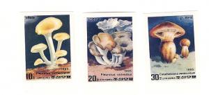 Korea (North-DPR), 2469-71, Mushrooms Imperf Singles, MNH