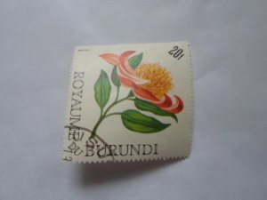 burundi stamp cto og mint hinged. # 10
