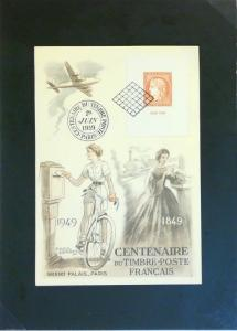 France SC# 634 Centenaire 1949 First Day Card - Z3162