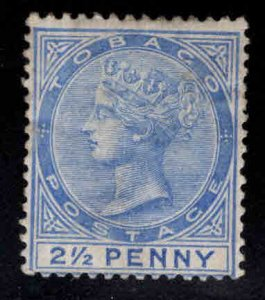 Tobago Scott 18 MH*  Queen Victoria 1883 CA wmk 2