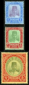 Trengganu SG23/5 1921 Set of 3 M/Mint
