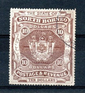 North Borneo 1894 $10 FU CDS