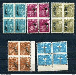 Albania 1964 Olympics Games Tokyo Blocks of 4 MNH 11022