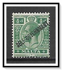 Malta #77 King George V Overprinted MH