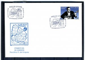 Uruguay 1995 CARLOS GARDEL TRIBUTE Official First Day Cover VF