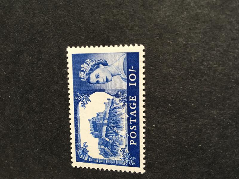 G.B. 2015 Scott #373 Mint VF-NH Cat. $14. 1963 Bradbury Wilkinson 10/ Bl. Castll