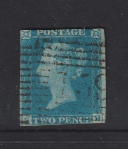 Great Britain an imperf 1841 QV 2d blue