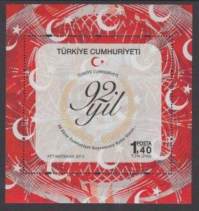 Turkey 3476a Souvenir Sheet MNH VF