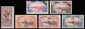 Martinique Scott 111, 113, 115-117, 119 (1923-25) Mint H/LH F-VF, CV $55.40 B