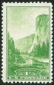 Scott 740  1¢ Yosemite Farley, MNH