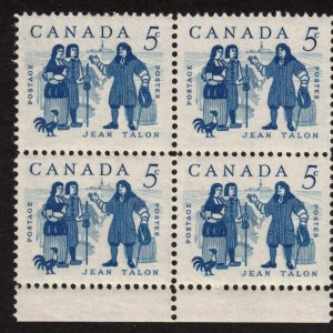 Canada - 1962 Jean Talon - SC398 Mint Block NH