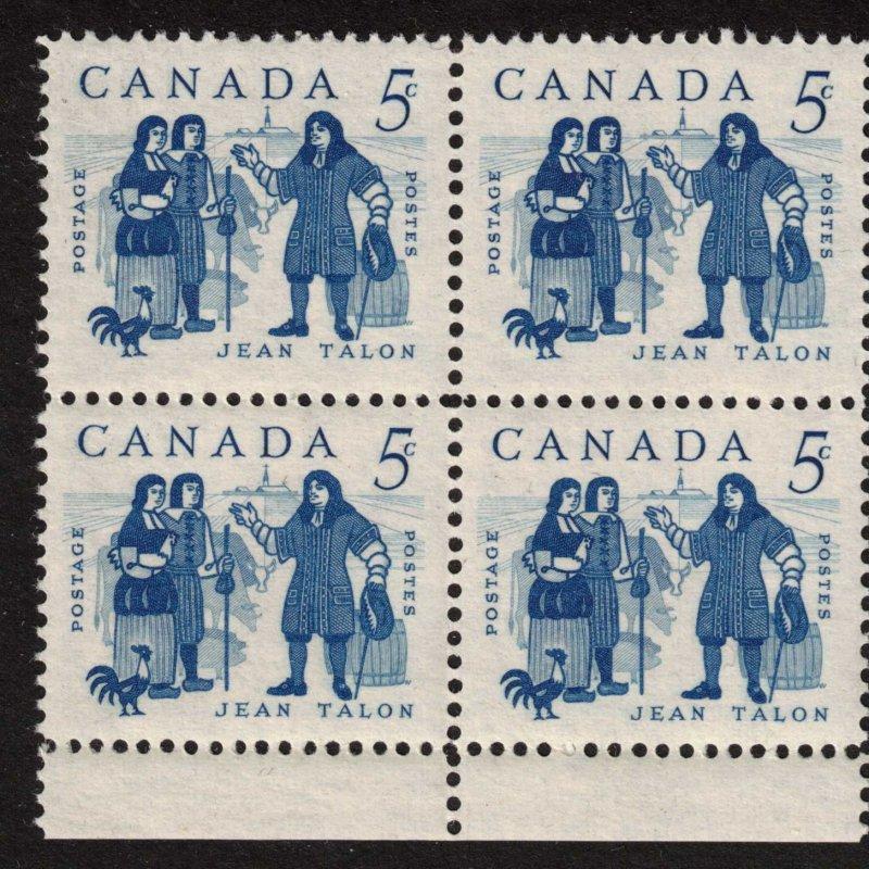 Canada - 1962 Jean Talon - SC398 Mint Block NH