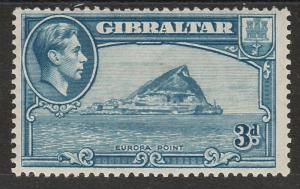 GIBRALTAR 1938 KGVI EUROPA POINT 3D PERF 13.5