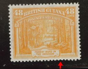 British Guiana Scott 236 MH* margin tear at bottom