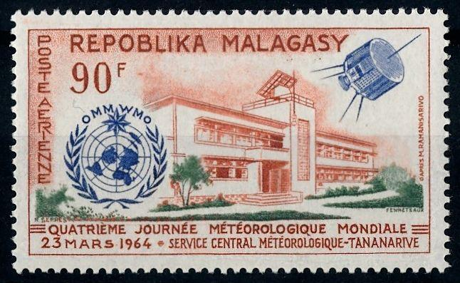[64462] Madagascar 1964 Space Travel Weltraum Satellite Airmail MNH