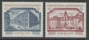 LIECHTENSTEIN SG689/90 1978 EUROPA MNH