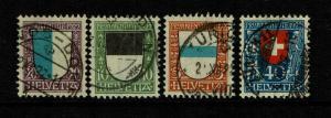 Switzerland SC# B21 - B24 Used / Clean Set - S7696
