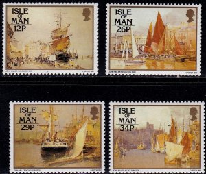 Isle of Man 1987, Paintings by Nicholson, MNH Set   # 327-330