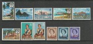 St Lucia 1967 Statehood Def Opts, 12 vals UM/MNH SG 229/40