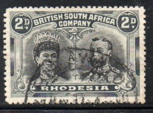 Rhodesia Sc 103 1910 2d  G V & Mary stamp used