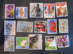 Gibraltar Assortment Used #10- (5D4) WDWPhilatelic