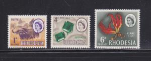 Rhodesia 223, 226-227 MNH Various (A)
