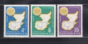Guatemala C207-C209 Set MH Rotary International