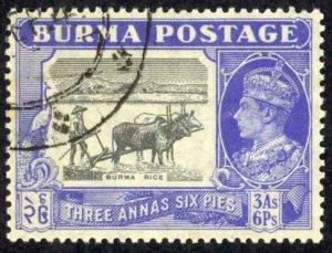 Burma Sc# 59 Used (a) 1946 3a-6p King George VI