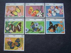 Cuba MNH 2670-6 Butterflies 1984