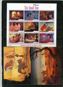 ST.VINCENT 1992 WALT DISNEY THE SMALL ONE SHEET OF 9 STAMPS & 2 S/S MNH