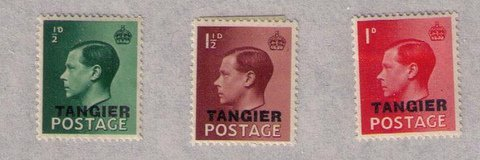 MH TANGIER MOROCCO AGENCIES Sc #511-513 VERY FINE