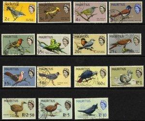 Mauritius SG317/31 Birds Set of 15 Fine Used Cat 60 pounds