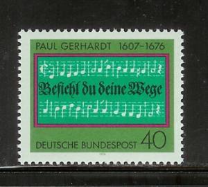 Germany 1215 Set MNH Hymn by Paul Gerhardt (E)