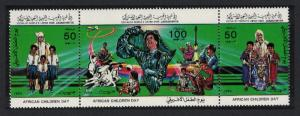 Libya African Children's Day strip of 3v SG#1448-1450
