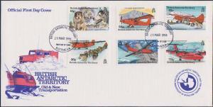 British Antarctic Territory Scott 218-223 Unaddressed.