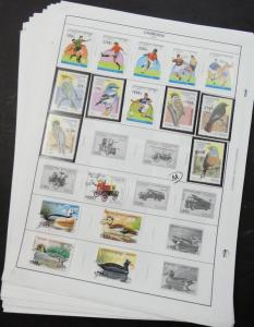 EDW1949SELL : CAMBODIA Collection of different on pages Mostly Topicals Cat $587