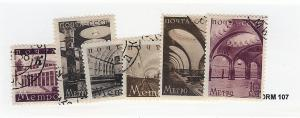 Russia, 687-92, Moscow Subway CTO Singles, Used - MH