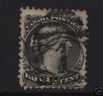 Canada #21 Used With Scarce #1 Numeral
