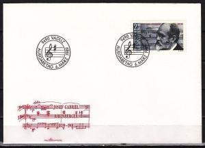 Liechtenstein, Scott cat. 903. Composer J. Rheinberger issue. First day cover.