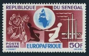 Senegal C36,MNH.Michel 287. EUROPAFRICA-1964.Peanuts,Globe,Factory.
