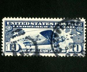 US Stamps # C10 Jumbo used