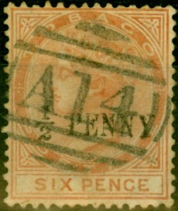 Tobago 1887 1/2d on 6d Orange-Brown SG28 Fine Used