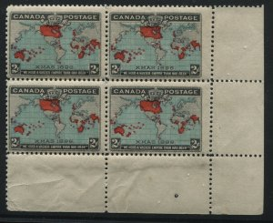 Canada 1898 2 cents Map stamp corner block of 4 unmounted mint NH