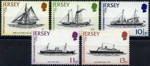 1978 Jersey Sailing Ships, Steamers, Paintings, complete set VFMNH! LOOK!