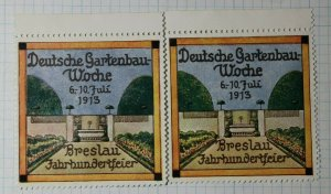 German Week Wroclaw Centenary 1913 Exposition Poster Stamp Ads