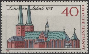 Stamp Germany Sc 1125 1973 Lubeck Cathedral 800th Anniversary Bundespost MNH