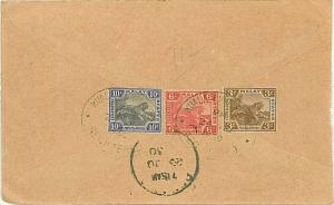 MALAYA - COVER 1930 - TIGERS - REGISTERED LETTER to KUALA LUMPUR