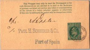 Trinidad 1/2d KGV Wrapper 1904 Port of Spain, Trinidad Local use.  MONARCH SIZE