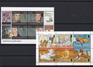 gibraltar mint never hinged stamps sheets ref r9534